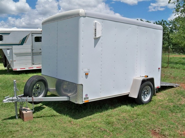 2004 Wells Cargo Trailer 6 X 10 6'6 Tall Stock horses